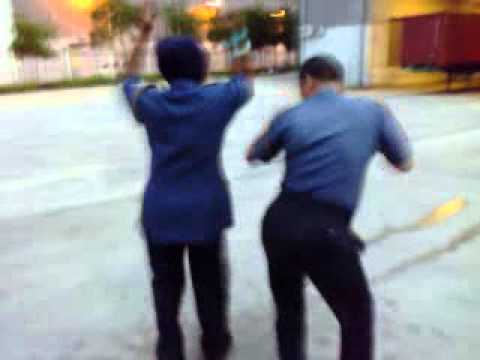 Nepali security funny dance in Malaysia