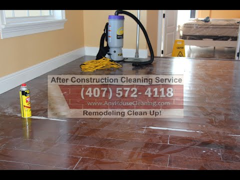 Orlando, Davenport, Champions Gate: New Construction And Post Remodeling Cleaning Services