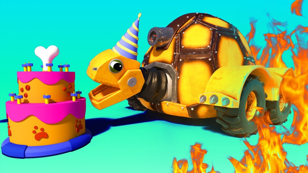 AnimaCars - Fuego en Path Tree después de una fiesta de cumpleaños - dibujos animados con animales