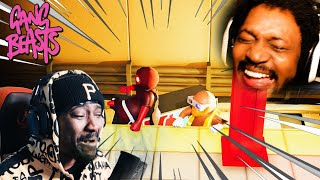 LITERALLY CRYING TEARS LAUGHING AT THIS GAME | Gang Beasts w/ POIISED