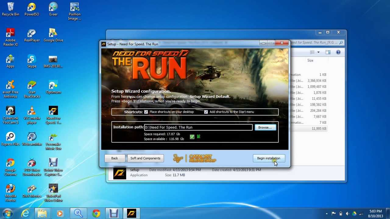 how to change need for speed the run from russian language to English