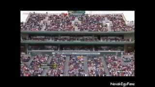 Novak Djokovic -  got angry because of the fan's reaction during the point