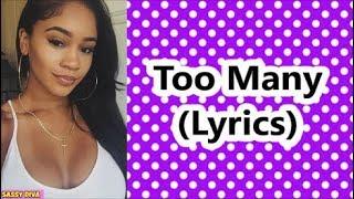 Saweetie - Too Many (Lyrics)