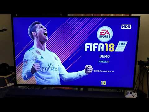 My First Look on FIFA 18 PS4 Pro 4K HDR on TCL Roku TV 55p605 & Calibrations