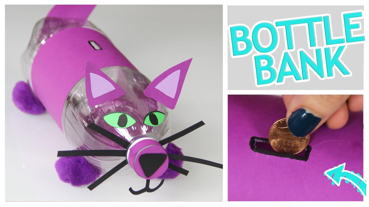 Diy money bank from a plastic bottle do it gurl youtube for Plastic bottle piggy bank craft