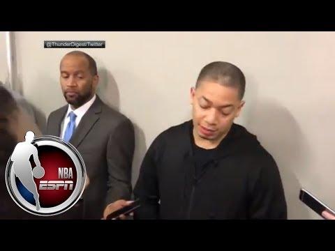 Tyronn Lue jokes about LeBron James coaching during timeouts | ESPN