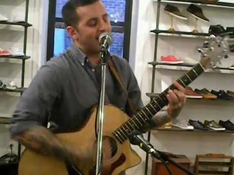 Bayside - Moceanu acoustic at Fred Perry's Surplus Shop in Brooklyn 3-29-12