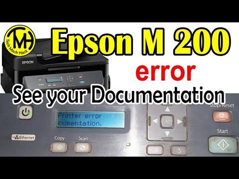 Epson Printers Error