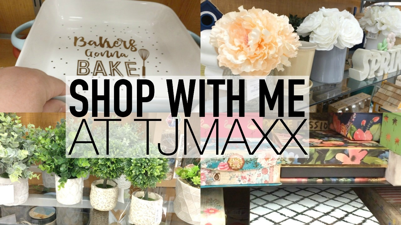 spring home decor | shop with me at tjmaxx | february 2017 - youtube