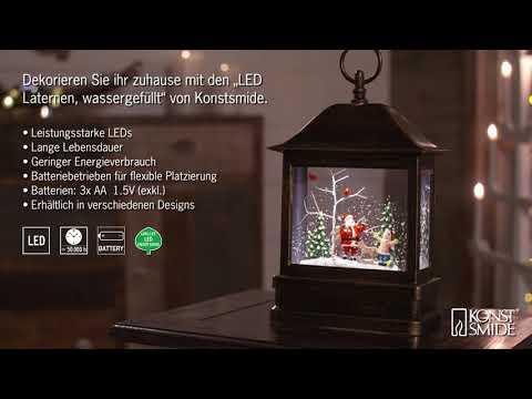 led-schneelaterne-weihnachtsmann,-wassergefüllt,-1-warmweiße-led,-batterie--und-netzbetrieb,-timer