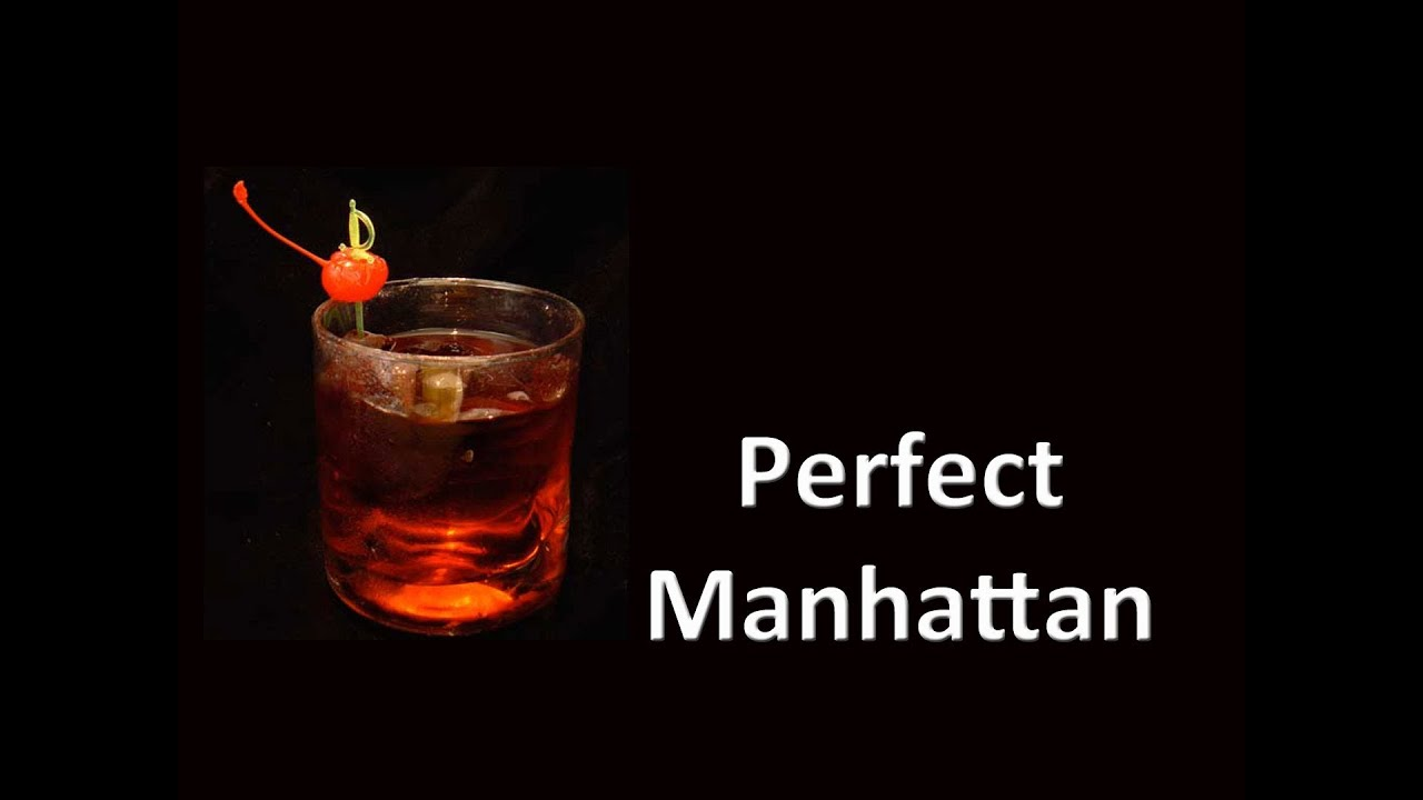 Perfect Scotch Manhattan Cocktail Drink - YouTube