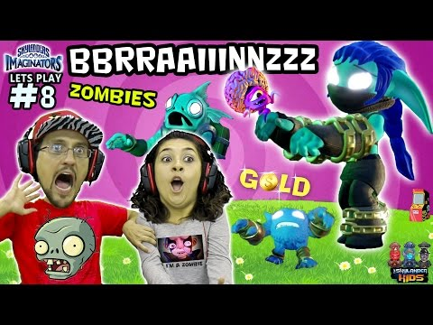 ZOMBIE-LANDERS!! GOLDEN ARCADE Playtime w/ GOLD JACKPOT! (Skylanders Imaginators Part 8 FULL LEVEL) - 동영상