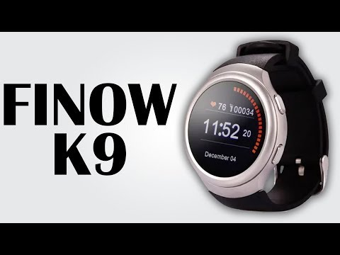 FINOW K9 SmartWatch - 1.3 inch / Android 4.4 / 512MB RAM + 4GB ROM / Heart Rate Monitor /