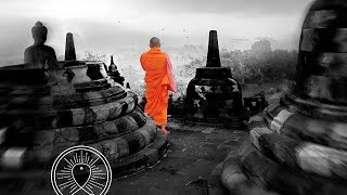 Buddhist meditation music for positive energy: buddhist thai monks chanting healing mantra
