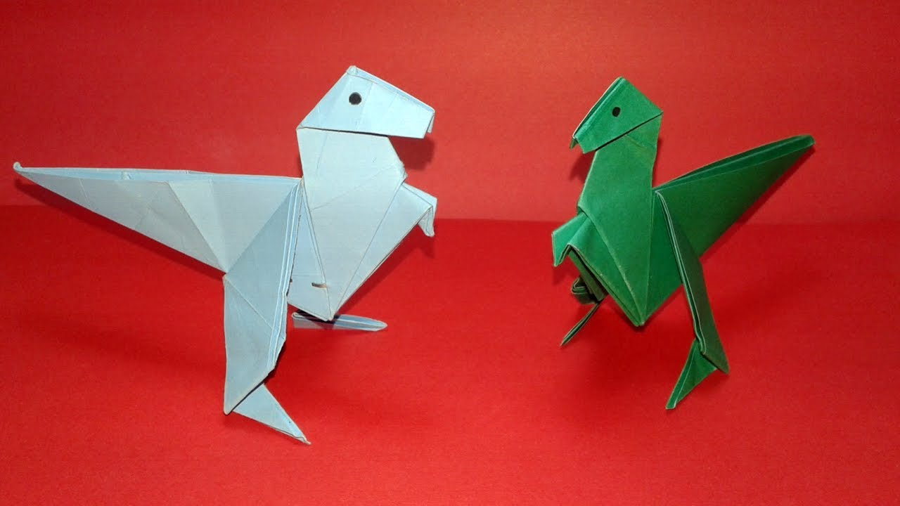 How To Make an Easy Origami Dinosaur?Origami-dragon. - YouTube - photo#14