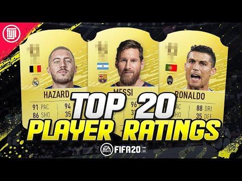 FIFA 20 | TOP 20 PLAYER RATINGS!!! FT. HAZARD, MESSI & RONALDO! - FIFA 20 Ultimate Team