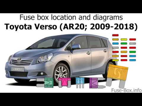Fuse Box Location And Diagrams Toyota Verso Ar20 2009 2018 Youtube