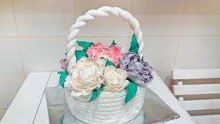 Торт Корзина с Цветами (Нежные Пионы) Торт корзина с цветами / Basket with flowers. Cake
