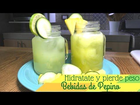 Agua de pepino y piña para perder peso   Cocina de Addy