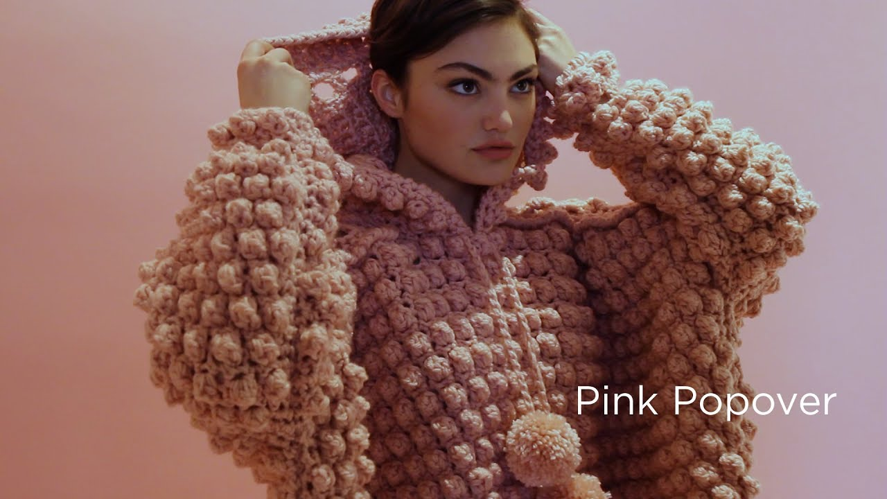 Pink Popover crocheted with Vanna\'s Choice® - YouTube
