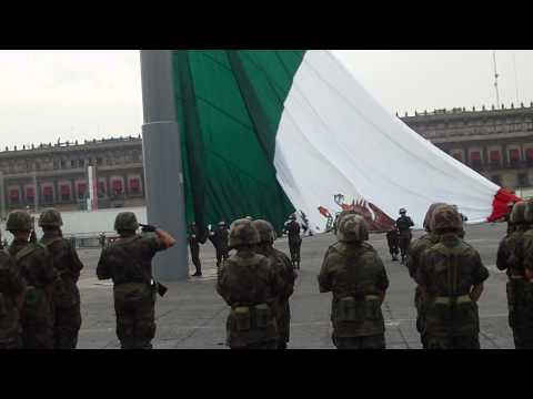 Mexico City Flag raising Ceremony