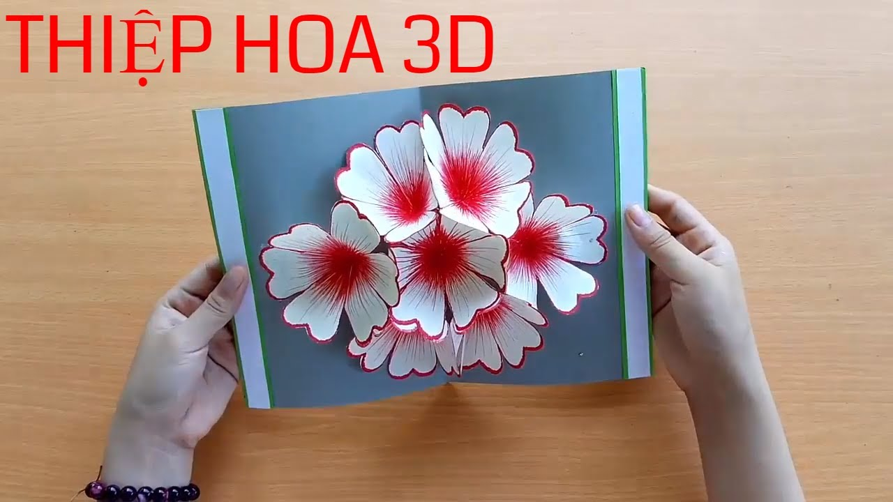 Hướng dẫn cách tự làm Thiệp Hoa Nổi 3D bằng giấy đơn giản & nhanh chóng ❀ DiyBigBoom VN