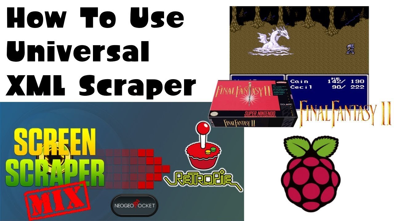 How To Use Universal XML Scraper To Get Awesome Images for RetroPie or  Recalbox