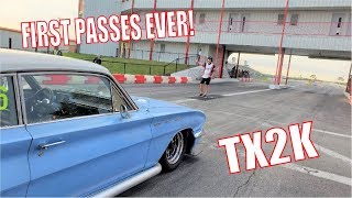 Twin Turbo Buick Skylark Goes ALMOST 190MPH at TX2K!! Roll Racing at TX2K19