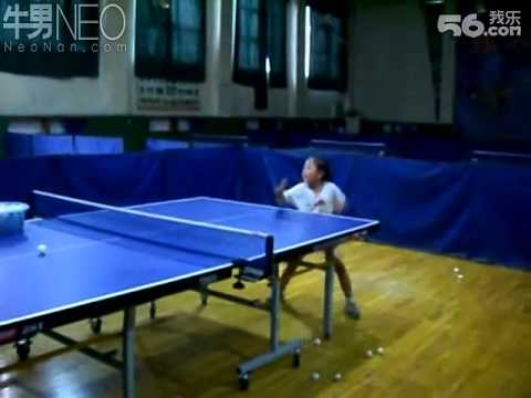 6 year old chinese girl playing table tennis youtube