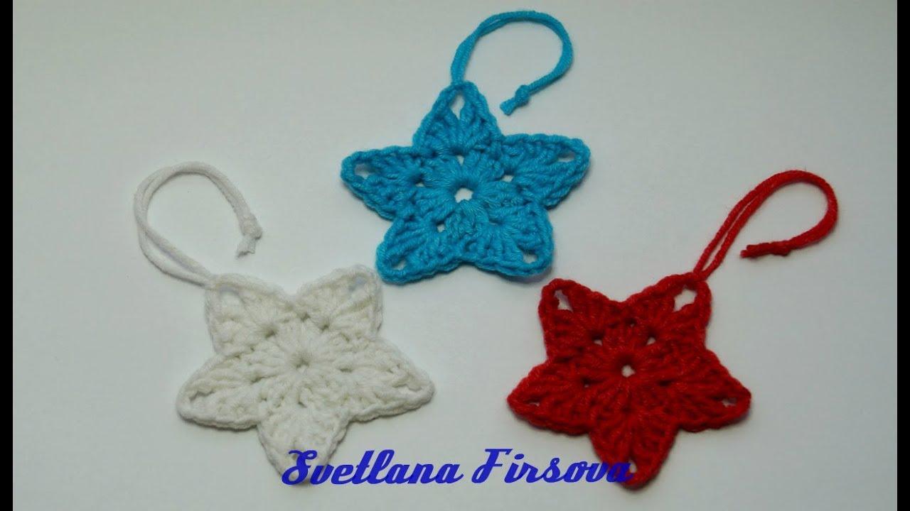 звездочка Star Crochet вязание крючком легкие петельки Youtube
