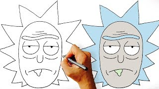 How to Draw Rick from Rick and Morty Step by Step