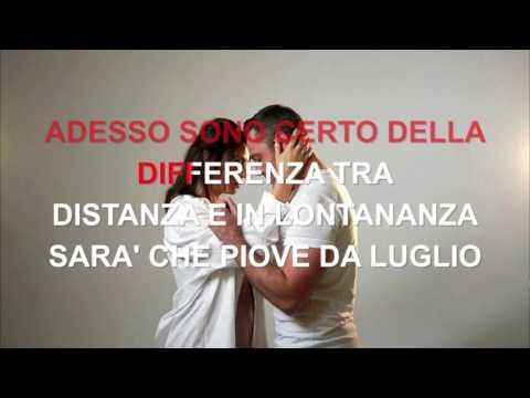 Tiziano Ferro Ft. Carmen Consoli - Il Conforto - Karaoke con testo