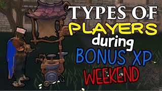 Runescape - Types of players during Bonus XP Weekend