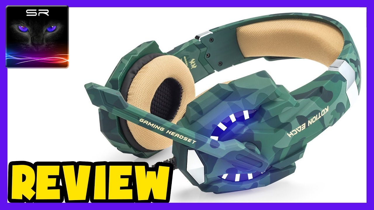 Kotion Each G9600 Gaming Headset Army Camo Paintjob Review Youtube