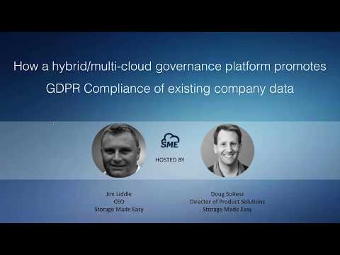 Webinar: Enforce GDPR across all existing company data with the SME File Fabric