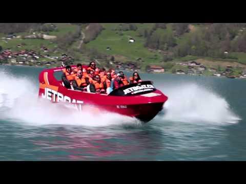Jet boat in Switzerland