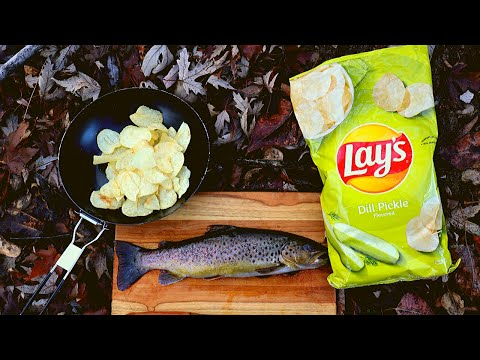 Catch N' Cook Fish In CRUNCHY Pickle Chips! *Munch Munch*