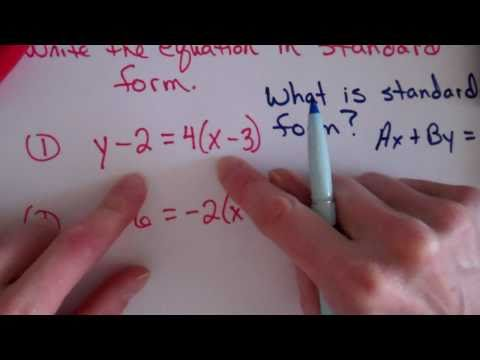 Writing Equations In Slope Intercept Form Youtube