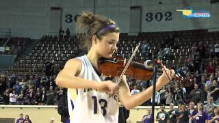 Violin National Anthem at Oklahoma Basketball State Final