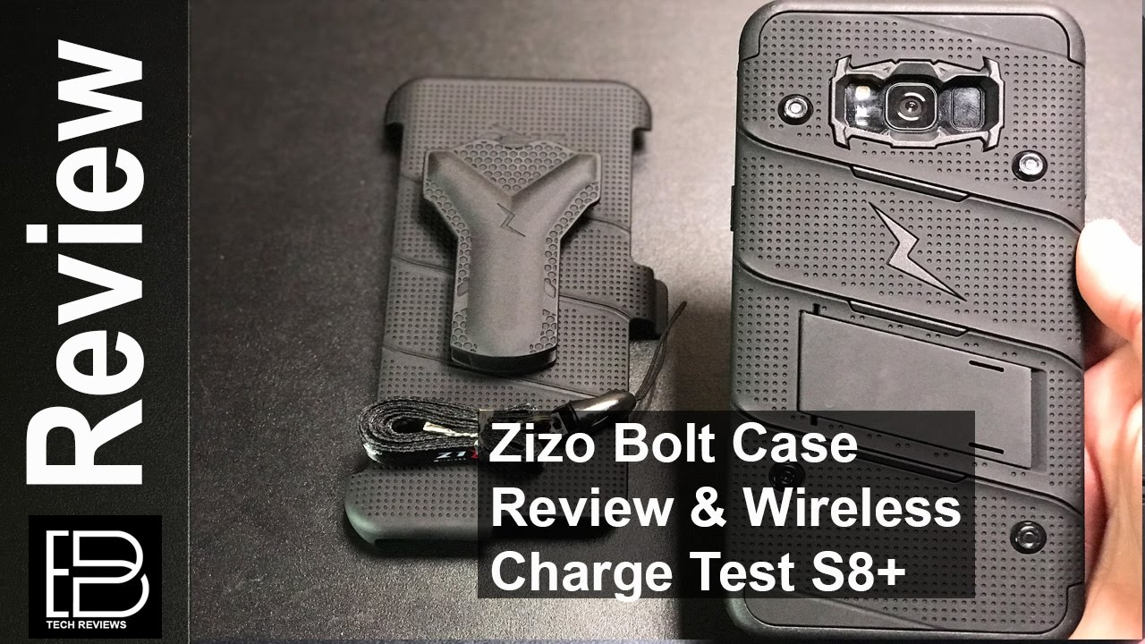 online store f38ec 0a824 Samsung S8 & S8+: Zizo bolt series case, holster and kickstand combo