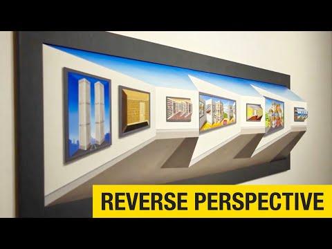 Patrick Hughes Reverse Perspective Paintings