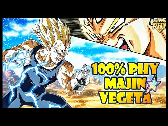 100 F2p Majin Vegeta Showcase Resurrected Category Dbz Dokkan