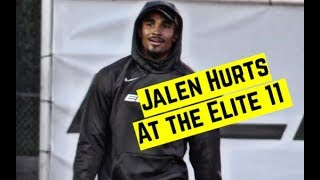 Jalen Hurts highlights at the Elite 11