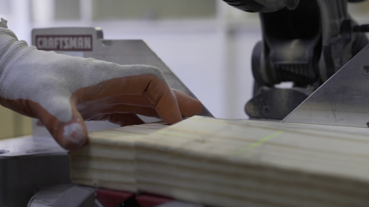 Closeup of saw cutting wood Free Stock Footage