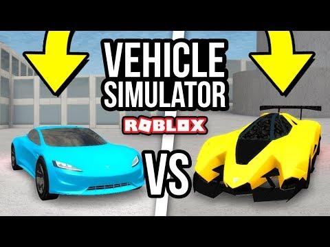 TESLA ROADSTER vs LAMBORGHINI EGOISTA - Roblox Vehicle Simulator #32