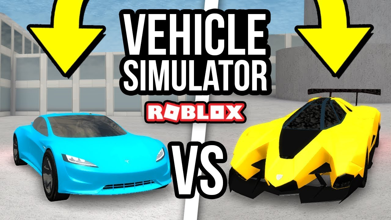 Tesla Roadster Vs Lamborghini Egoista Roblox Vehicle Simulator 32