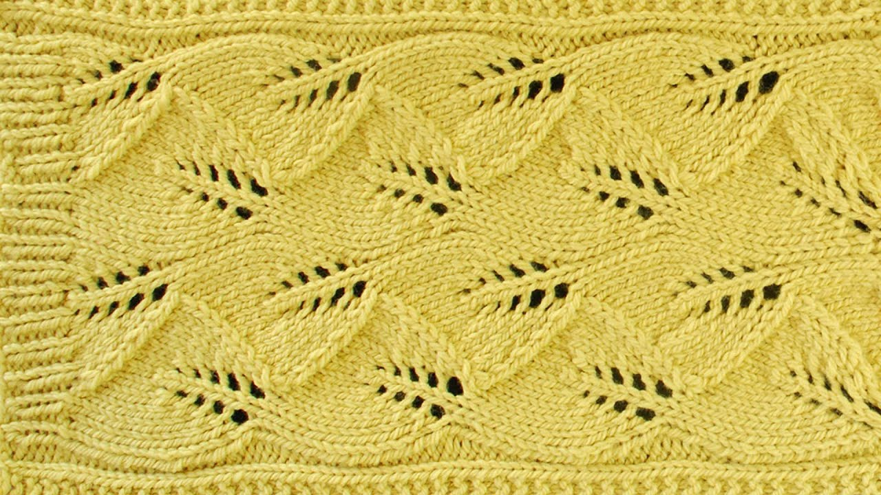 LACE LEAF SCARF - Lace Knitting Repeat Explained Stitch by Stitch. Part 2 - Y...