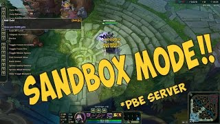 Practice Tool (Sandbox Mode) First Look - PBE Server - League Of Legends