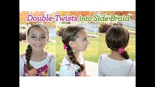 Double-Twists into Side Braid | Cute Girls Hairstyles