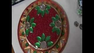 How To Make A Thermocol Aarthi Tray